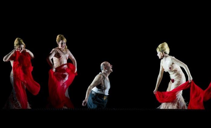Callinan (Wellgunde), Lehmkuhl (Flosshilde), Sidhom (Alberich), Stein (Woglinde) © Elisa Haberer