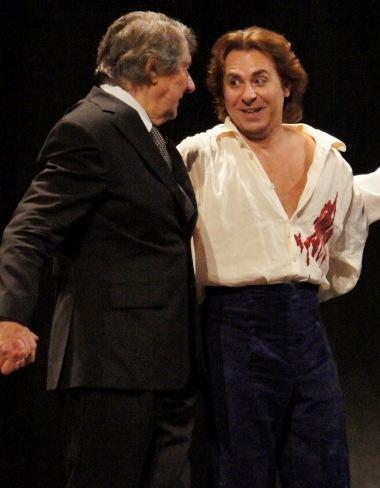 """Michel Plasson & Roberto Alagna (""""Werther"""" à l'Opéra Bastille - © Simon Parris)"""