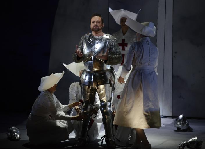 """""""Le Roi Arthus"""" (Acte 3) : Arthur (Andrew Schroeder). © Opéra National du Rhin / Alain Kaiser)"""