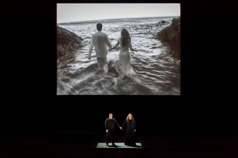 Dean Smith, Violeta Urmana et vidéo de Bill Viola (© Charles Duprat / ONP)