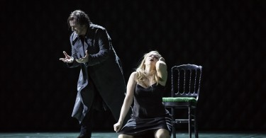 "Hermann (Misha Didyk) et Lisa (Tatiana Monogarova) / ""La Dame de Pique"" à l'Opéra de Strasbourg(© Klara Beck)"