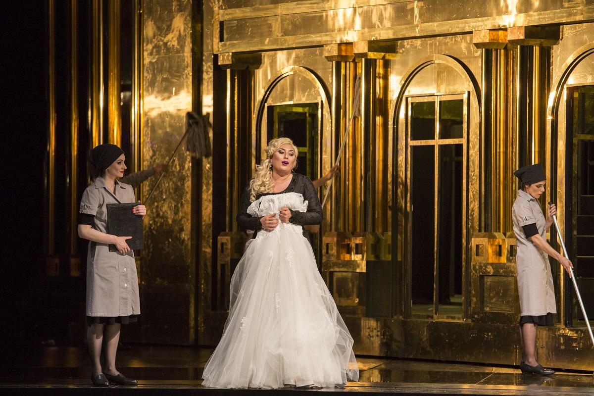 Aïda (Opéra Bastille). Anita Rachvelishvili (Amneris) / © Damiana Guerganova (OnP)