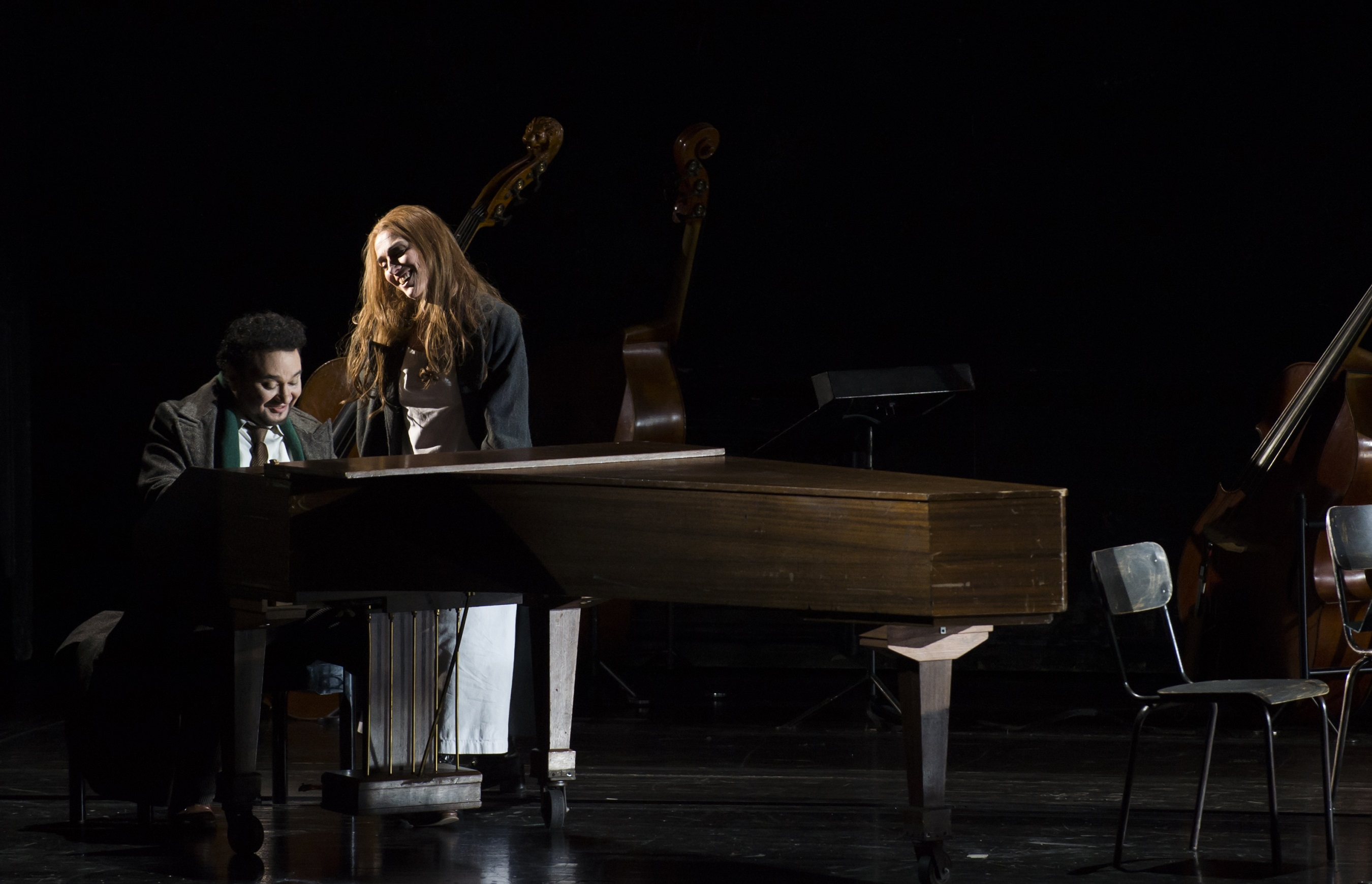 """Les contes d'Hoffmann"", octobre 2016 à l'Opéra Bastille : Ramón Vargas (Hoffmann) - Ermonela Jaho (Antonia) / © Julien Benhamou (ONP)"