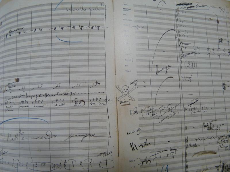 Partition originale de « La Bohème », de la main de Puccini (Archives historiques Ricordi, Milan)