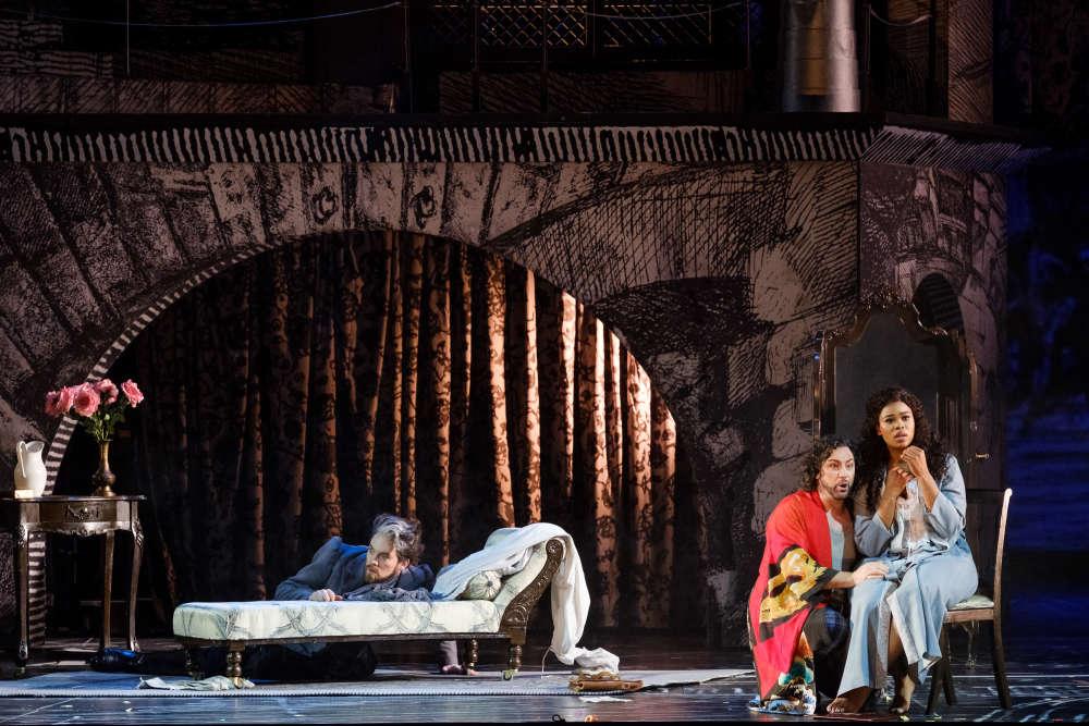 Audun Iversen (Fieramosca) - John Osborn (Benvenuto Cellini) - Pretty Yende (Teresa) / © Agathe Poupeney (OnP)