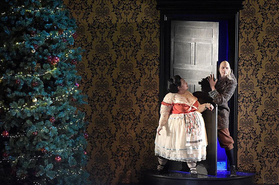 Marie Lenormand (Jacinthe) - Gil Perez (Laurent Kubla) / © Vincent Pontet (Opéra-Comique)