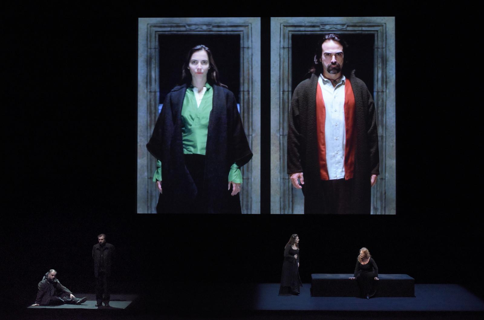 """Tristan et Isolde"" à l'Opéra-Bastille : Matthias Goerne (Kurwenal), Andreas Schager (Tristan), Ekaterina Gubanova (Brangäne), Martina-Serafin (Isolde) / © Vincent Pontet (OnP) Tristan-et-Isolde"