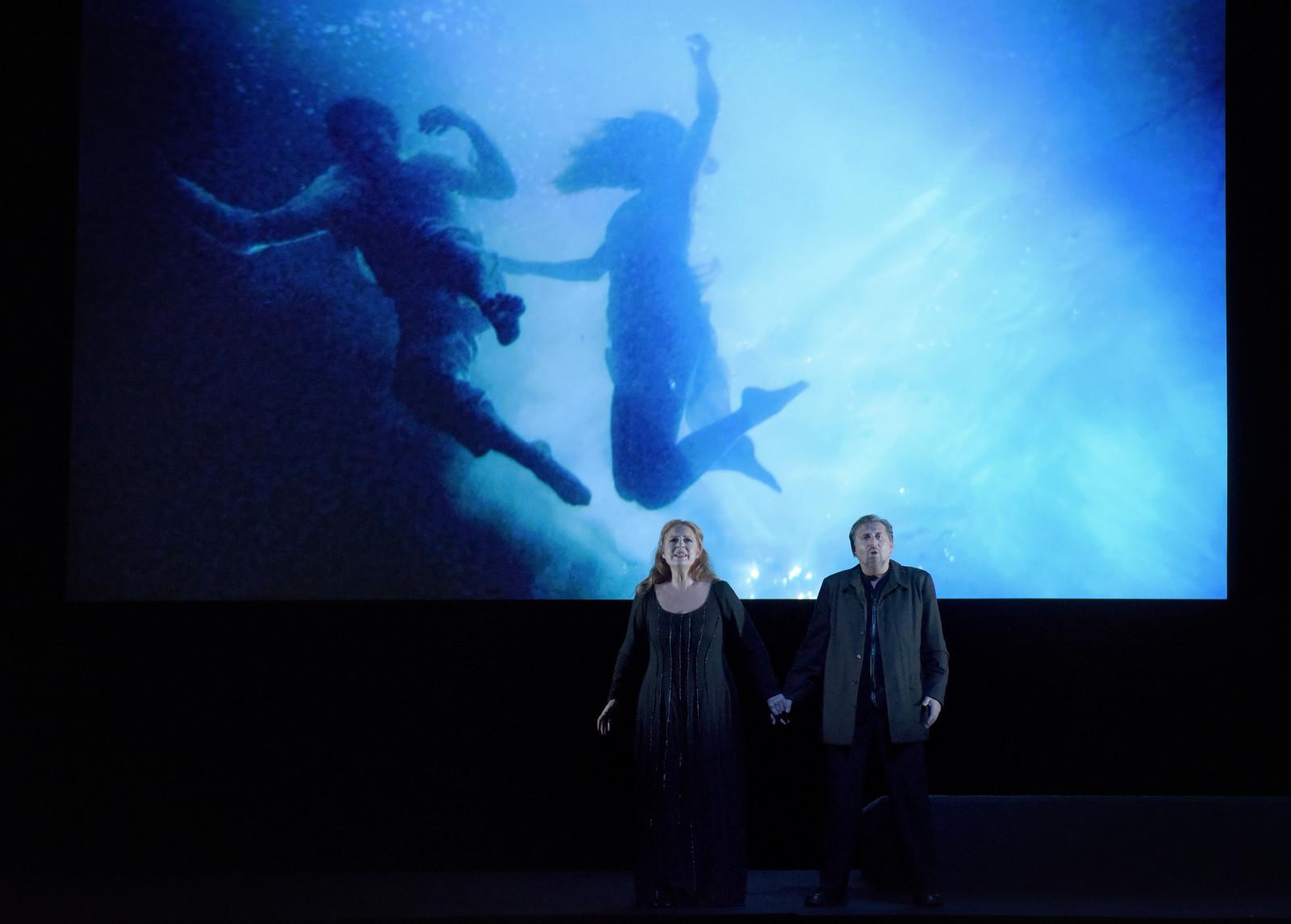 Martina Serafin (Isolde), Andreas Schager (Tristan) / © Vincent Pontet (OnP)