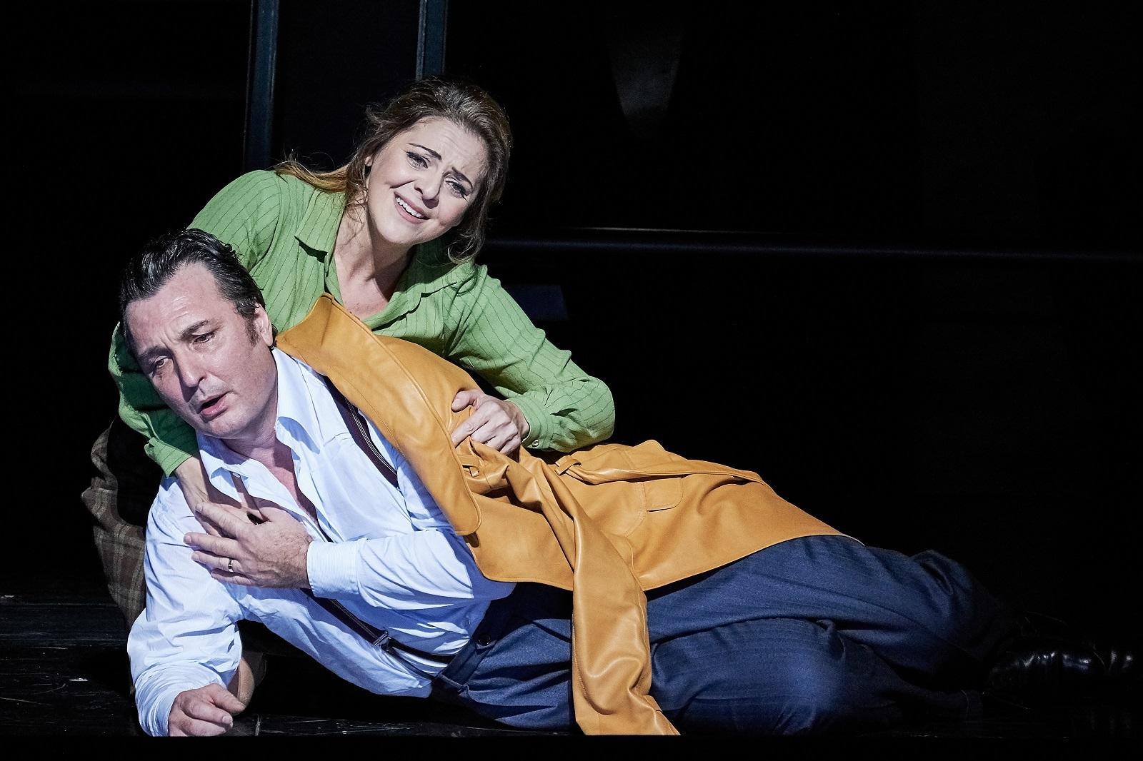 """""""Simon Boccanegra"""" (09 11 2018) : Ludovic Tézier (Simon Bocanegra) & Maria Agresta (Maria Boccanegra / Amelia Grimaldi) / © Agathe-Poupeney (OnP)"""