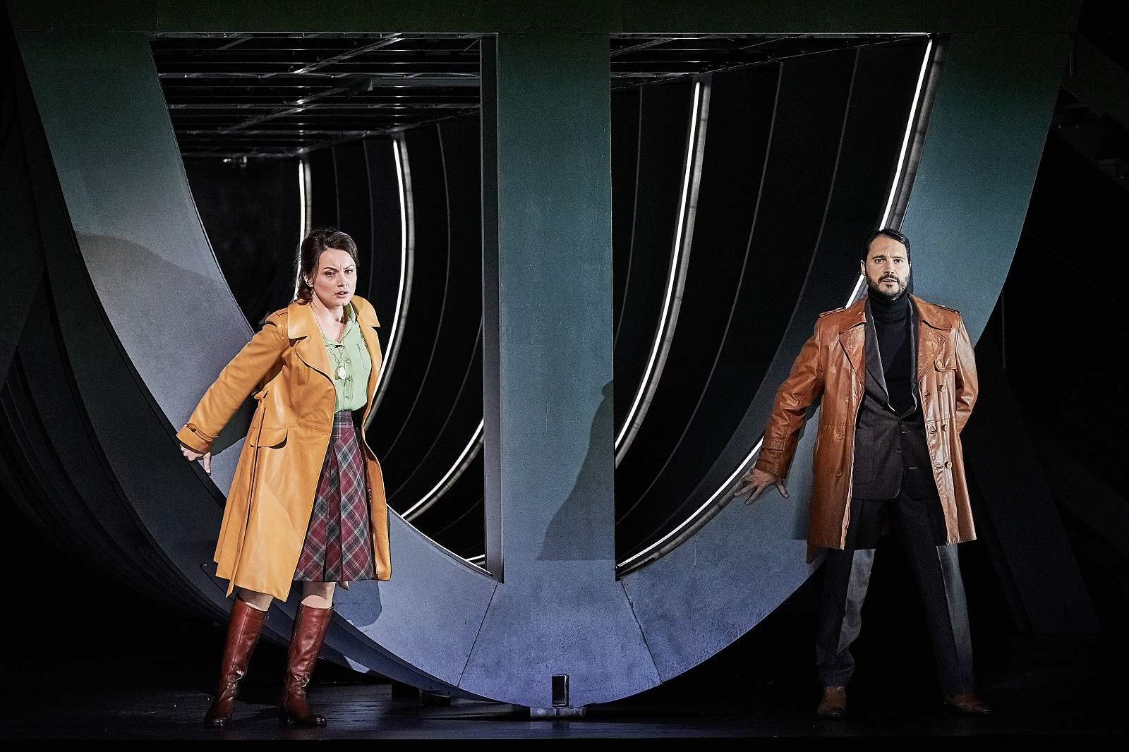 """Simon Boccanegra"" (09 11 2018) : Maria Agresta (Maria Bocanegra / Amelia-Grimaldi) & Francesco Demuro (Gabriele Adorno) / © Agathe-Poupeney (OnP)"