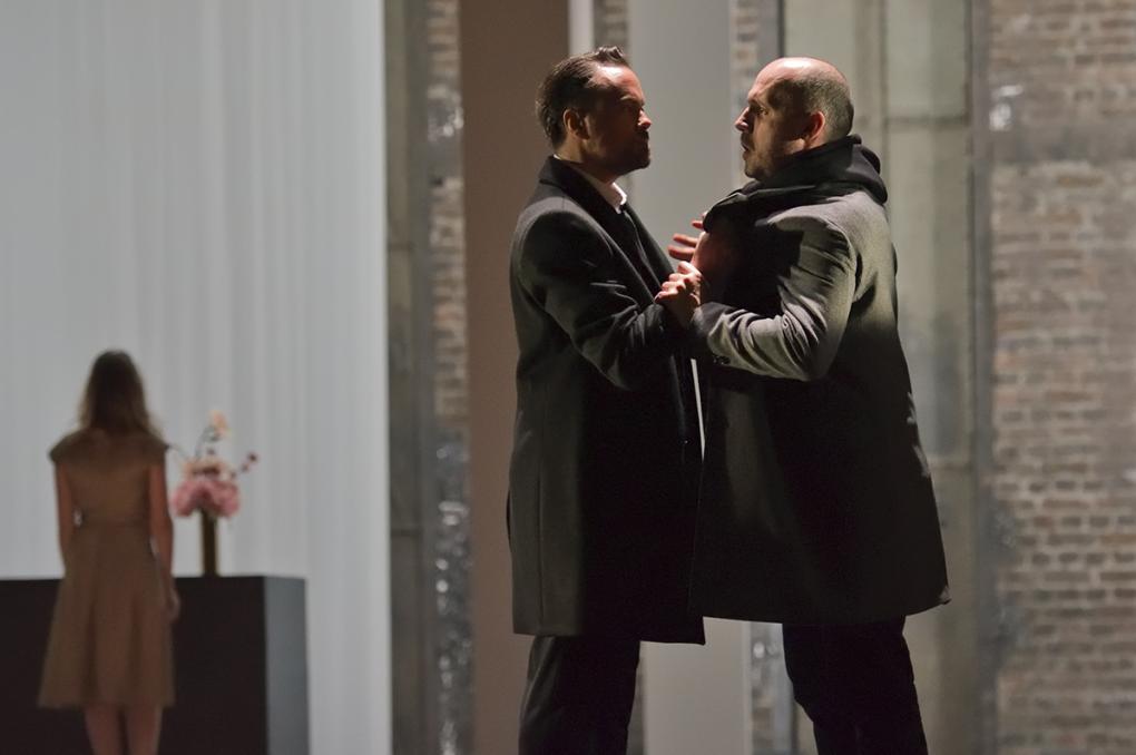 "Laërte (Julien Behr) & Hamlet (Stéphane Degout) / Vincent Pontet (""Hamlet"", Opéra-Comique, 2018)"