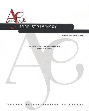 livre de Stravinsky