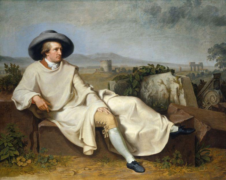 01-Tischbein_Goethe dans la campagne romaine