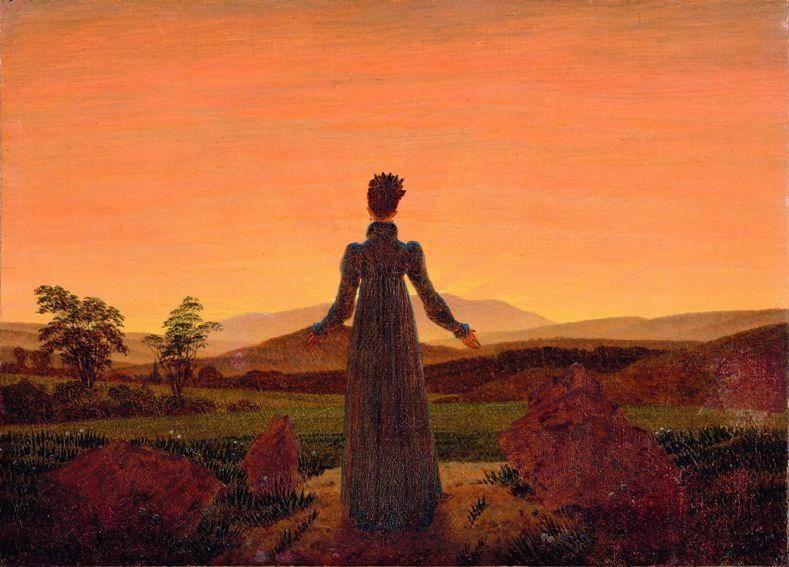 Caspar David Friedrich, Femme dans le soleil du matin © Museum Folkwang, Essen
