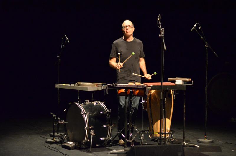 Steven Schick, au Centre Pompidou, époustouflant !  (Ph. Delphine Oster)