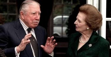 Augusto Pinochet et Margaret Thatcher (DR)