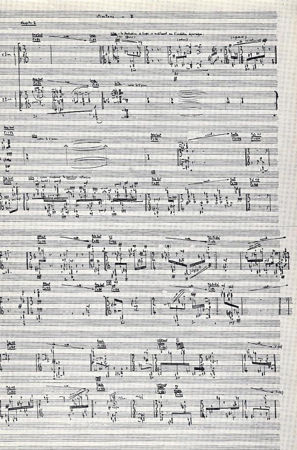 """2e Livre des """"Structures pour deux pianos"""" (1955). Ayant pris ses distances avec l'écriture sérielle généralisée, Pierre Boulez explore avec une extrême prudence « l'œuvre ouverte »"""