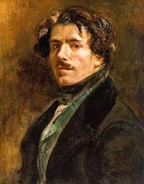 …ainsi que Delacroix, le peintre des romantiques – Autoportrait  au gilet vert