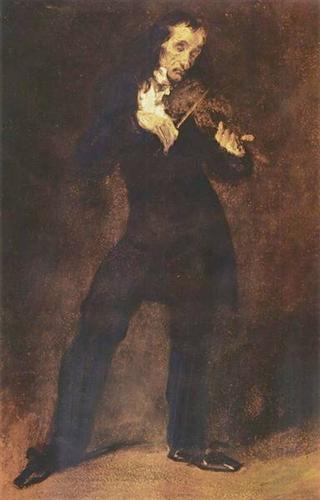 Paganini, « le démon du violon », portrait de Delacroix, 1832