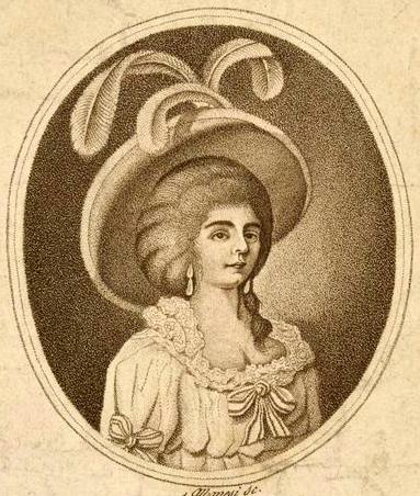 """Adriana Ferrarese (1755-1804) fut, le 26 janvier 1790, la première interprète de Fiordiligi, au Burgtheater de Vienne. Elle aurait été la maîtresse de Lorenzo da Ponte, le librettiste de """"Cosi fan tutte""""…"""