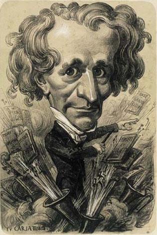 Avec ses outrances et sa mégalomanie, Berlioz fut un morceau de choix pour les caricaturistes, dont Etienne Carjat qui s'est régalé avec notre Hector national.…