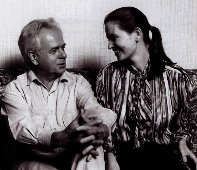 Edison Denisov et sa seconde épouse, Ekaterina Kouprovskaia (DR)