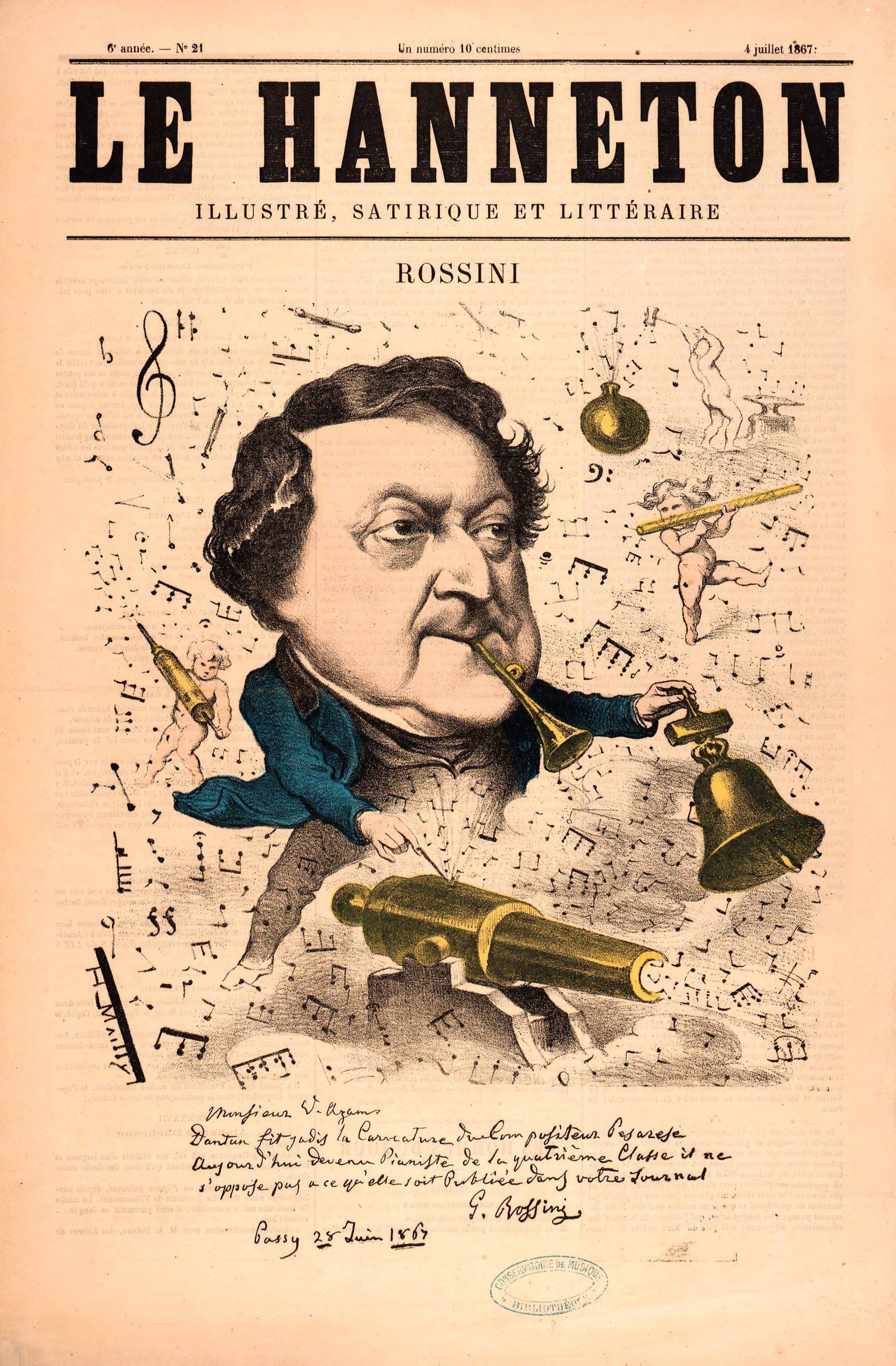 Gioacchino Rossini (1792-1868) Un musicien pour les fêtes (DR)