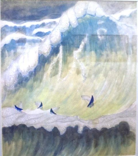 « La Mer », toile de Ciurlionis, contemporaine de l'œuvre éponyme de Debussy (Musée Mikalojus Konstantinas Ciurlionis)