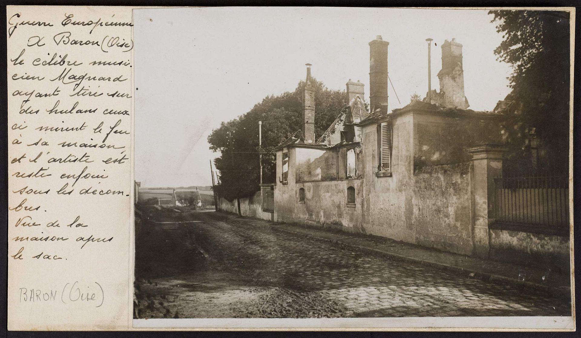Les ruines du manoir d'Albéric Magnard à Baron dans l'Oise