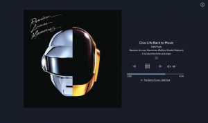 Screenshot of LINN's music player working with Qobuz