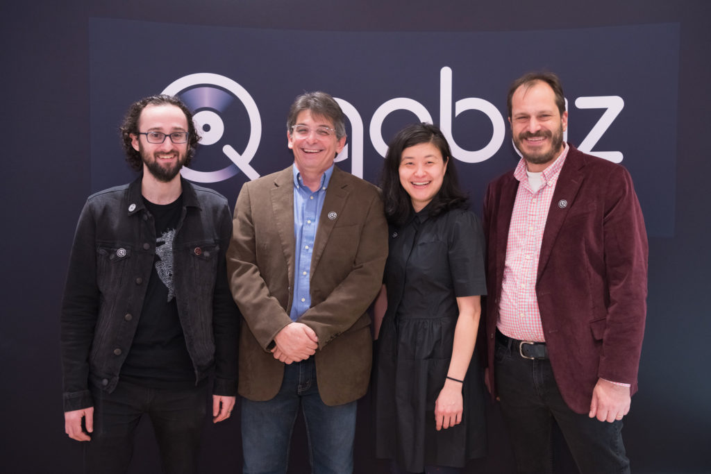 The Qobuz US team: Eric Benoit, David Solomon, Sujan Hong, and Dan Mackta