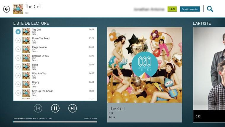 Application Windows 8 playlist