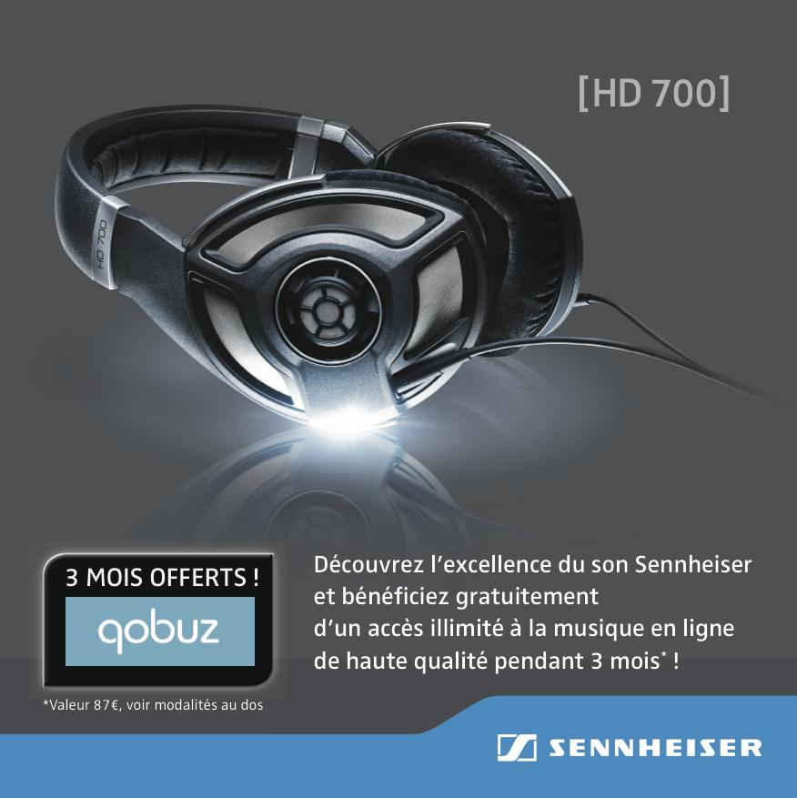 Offre Qobuz - Sennheiser HD-700