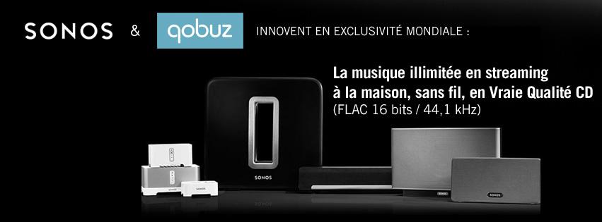 Première mondiale : Sonos intègre l'application Qobuz en qualité CD !