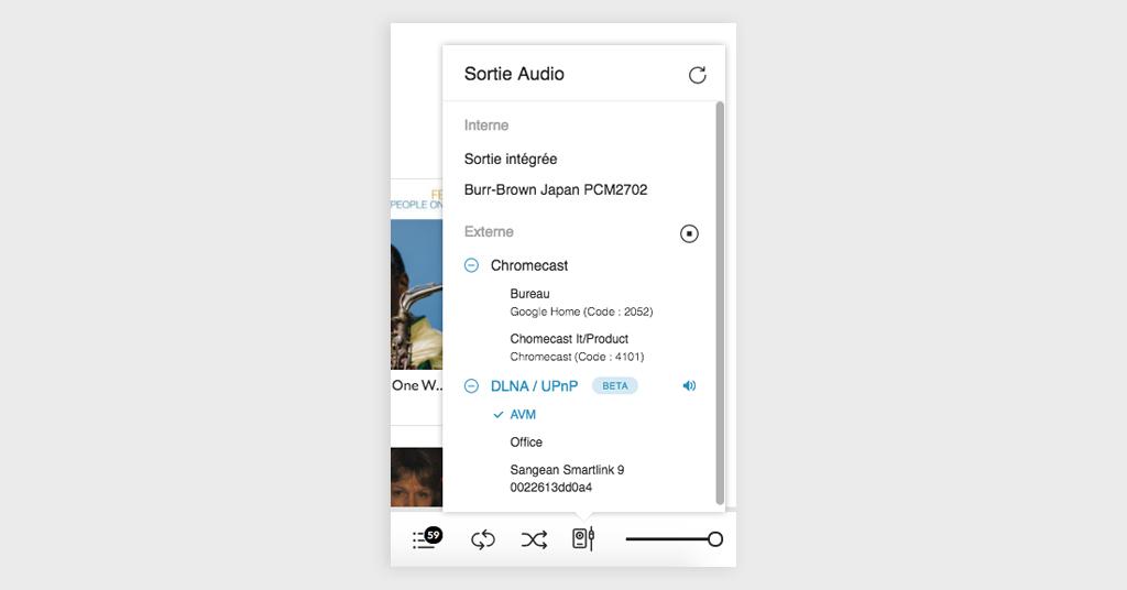 Screenshot Chromecast/DLNA/UPnP